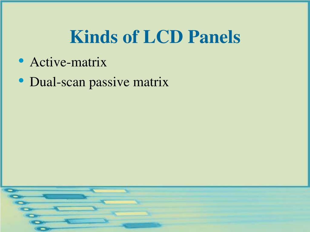Kinds of LCD Panels