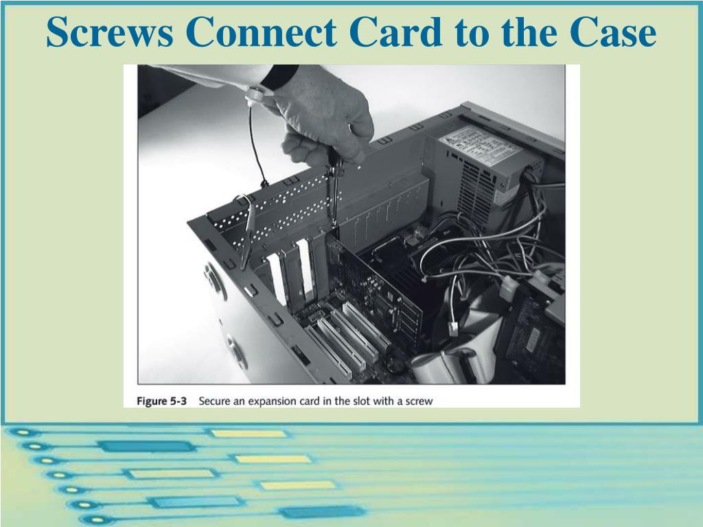 Screws Connect Card to the Case