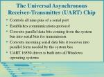 the universal asynchronous receiver transmitter uart chip