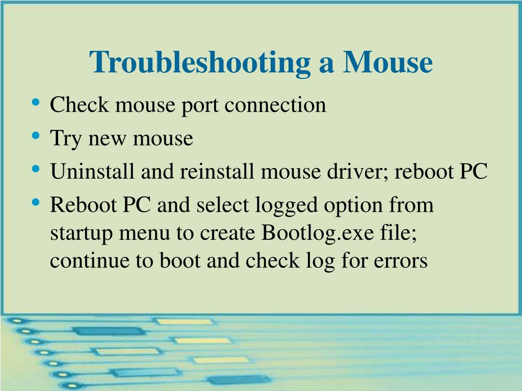Troubleshooting a Mouse