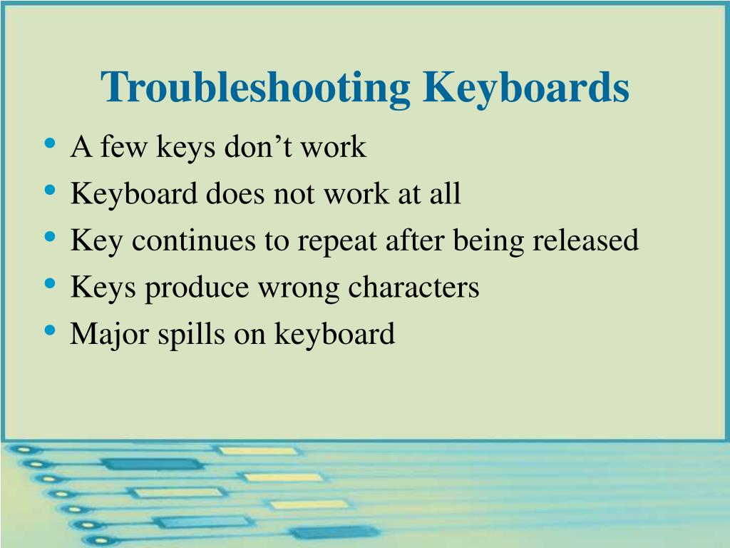 Troubleshooting Keyboards