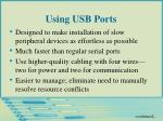 using usb ports