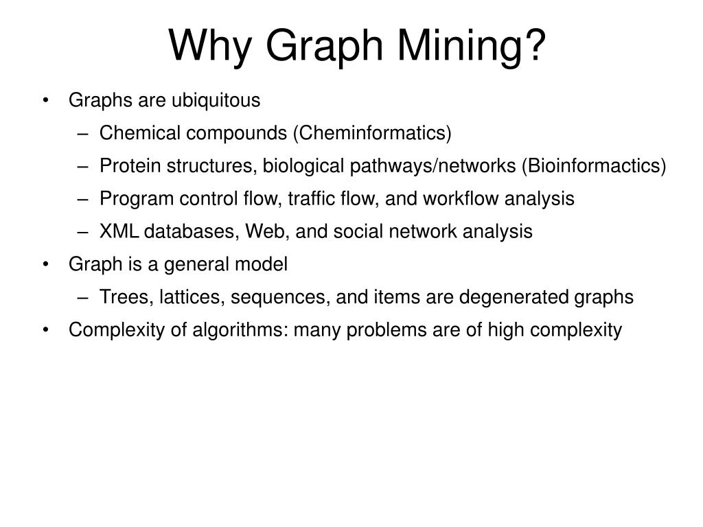 Why Graph Mining?