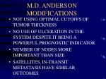 m d anderson modifications