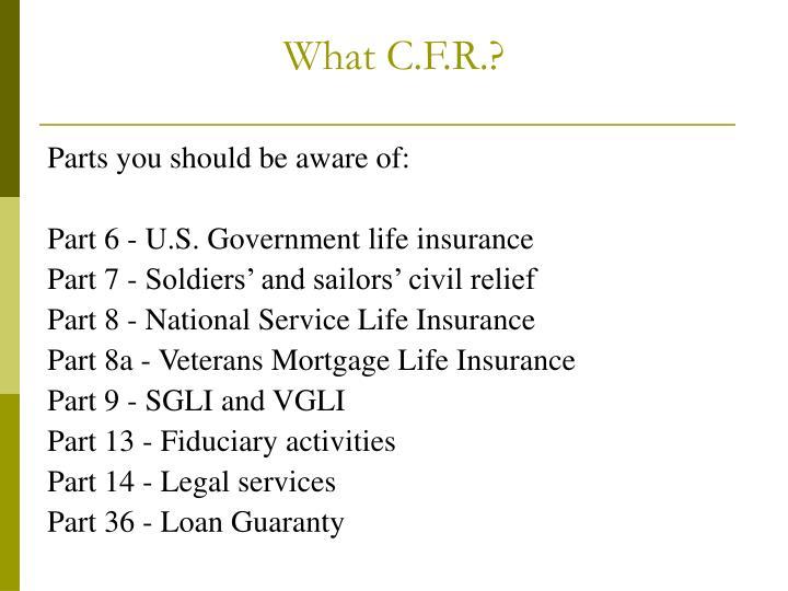 What c f r3