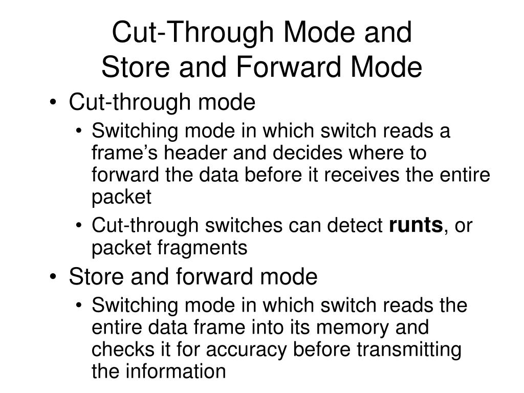 Cut-Through Mode and