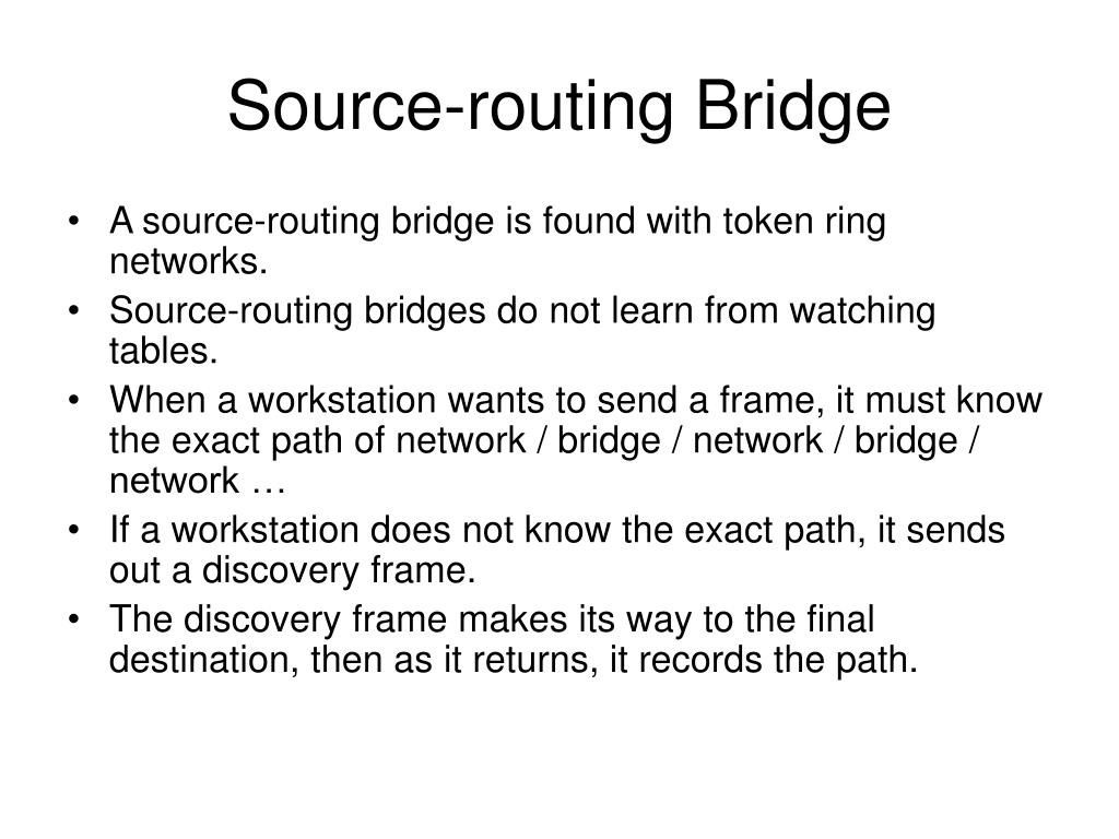 Source-routing Bridge
