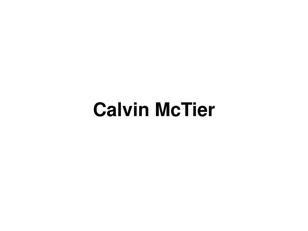 Calvin McTier