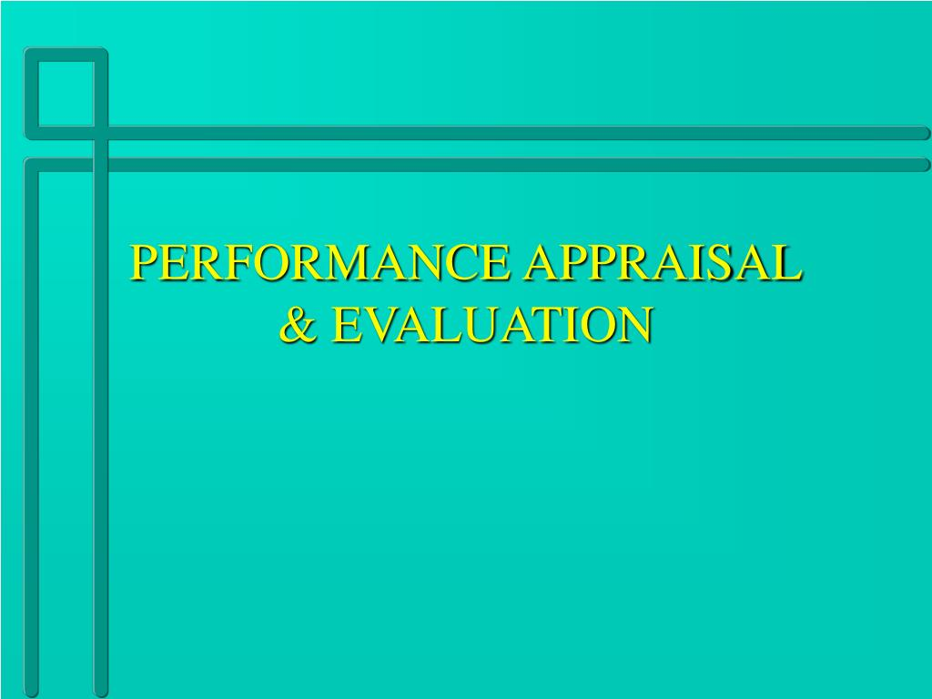 performance appraisal evaluation l.