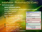 installation photoshop cs2 cont