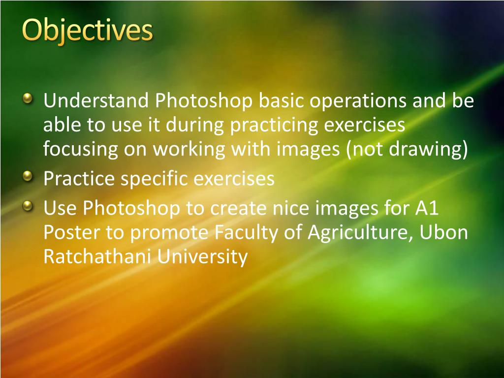 PPT - Presentation class: Photoshop CS2 or CS PowerPoint