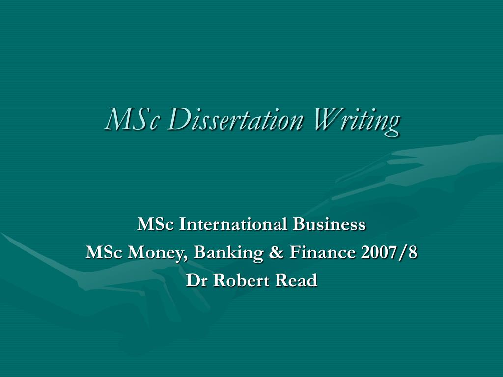 Msc phd thesis