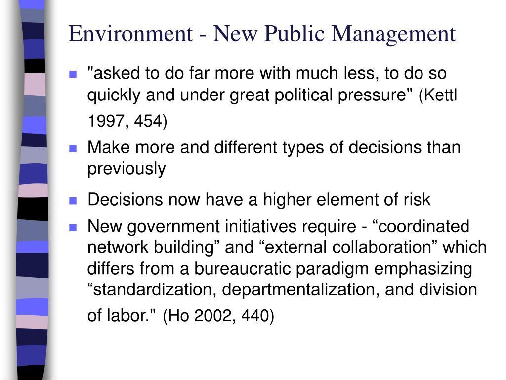 Environment - New Public Management