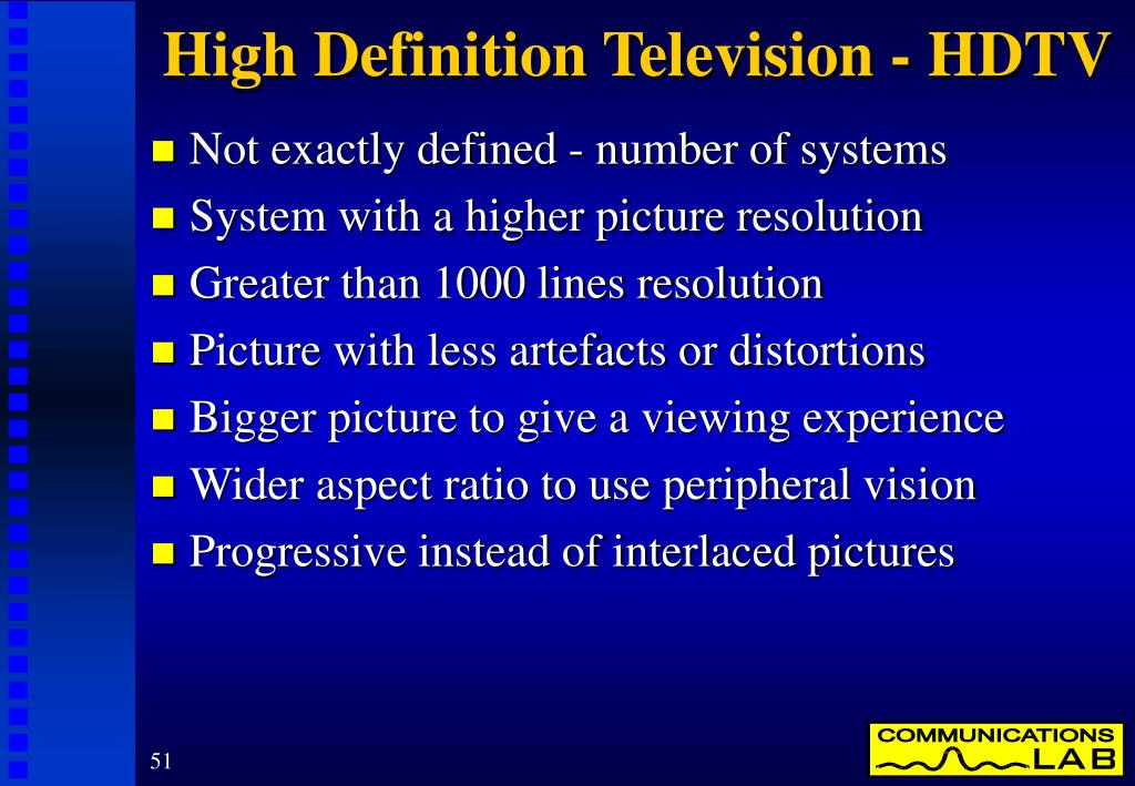High Definition Television - HDTV