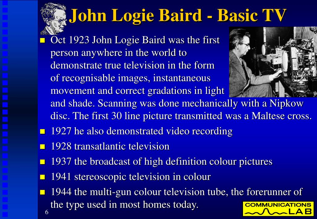 John Logie Baird - Basic TV