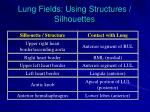 lung fields using structures silhouettes
