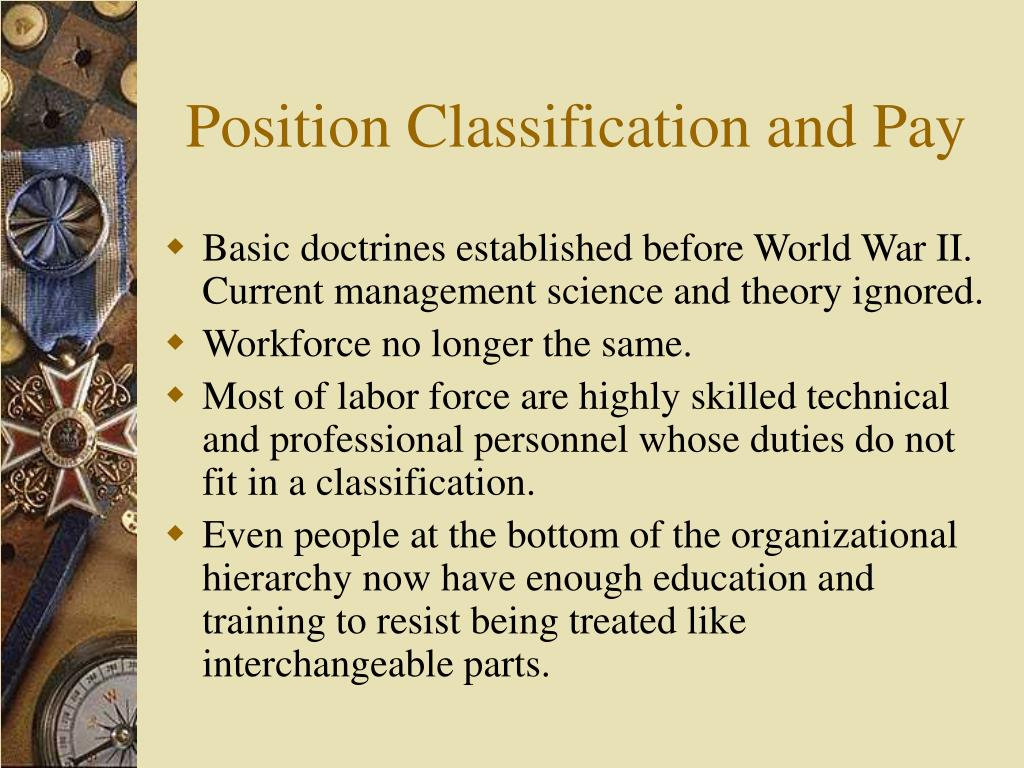 Position Classification and Pay