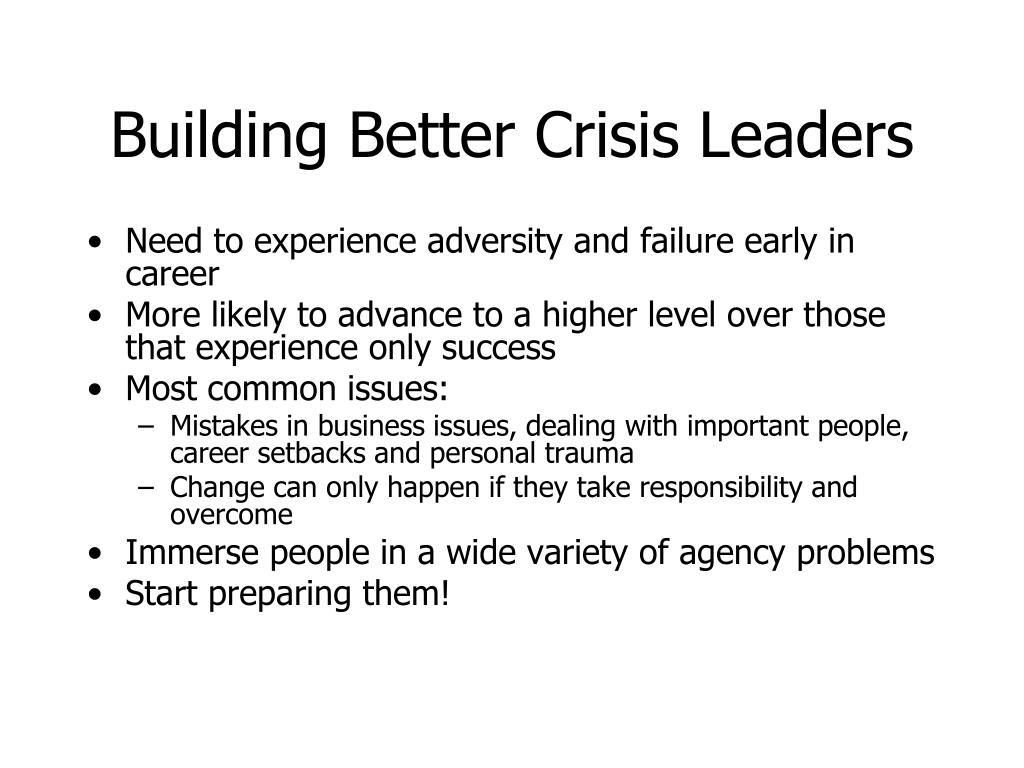Building Better Crisis Leaders