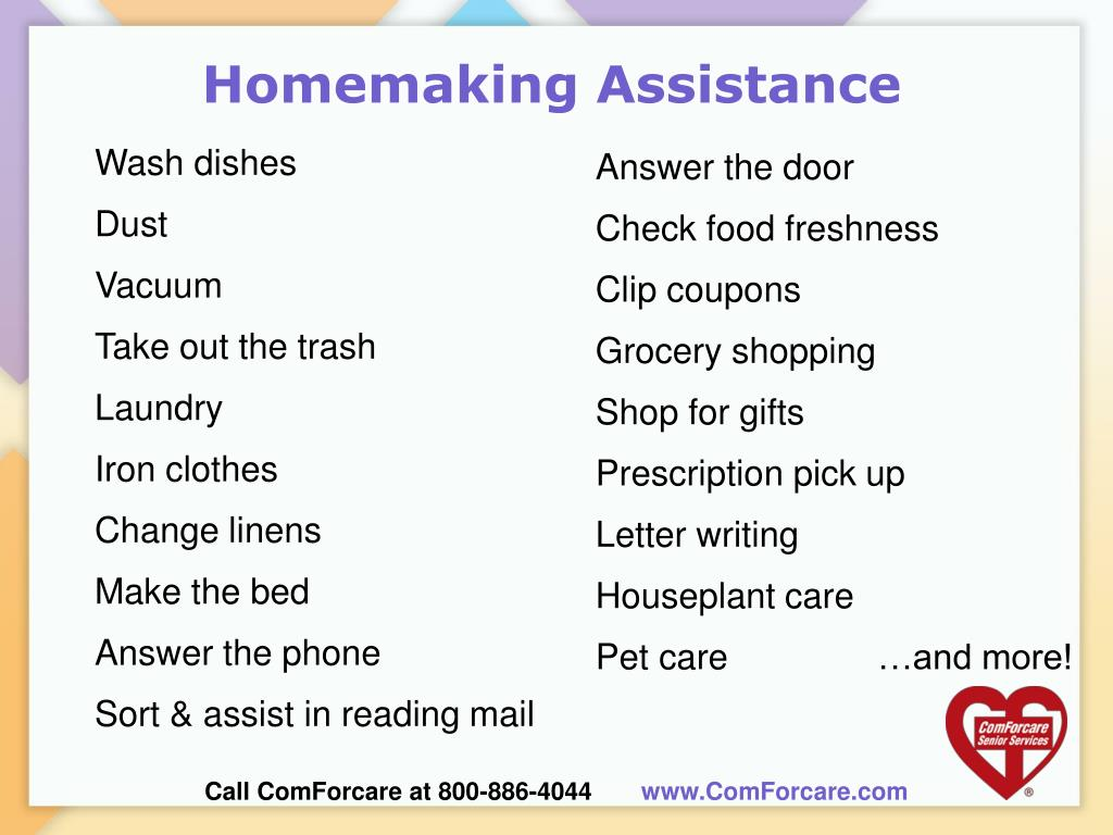 Homemaking Assistance