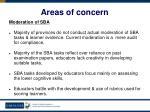 areas of concern56
