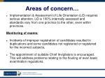 areas of concern57