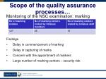 scope of the quality assurance processes45