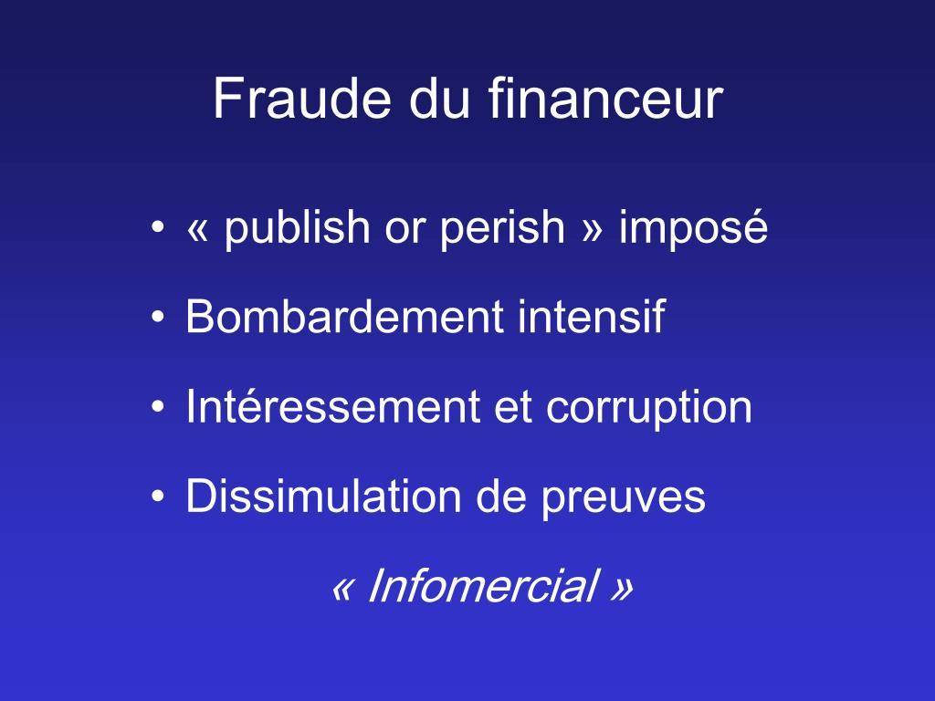 Fraude du financeur