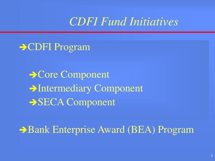 Cdfi fund initiatives