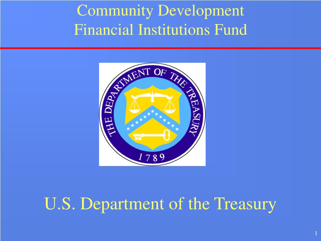 community development financial institutions fund l.