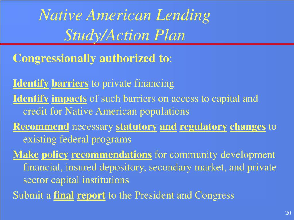 Native American Lending