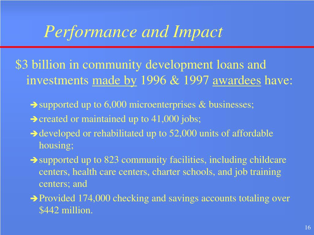 Performance and Impact