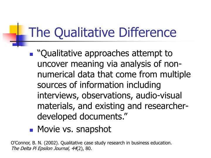 The qualitative difference