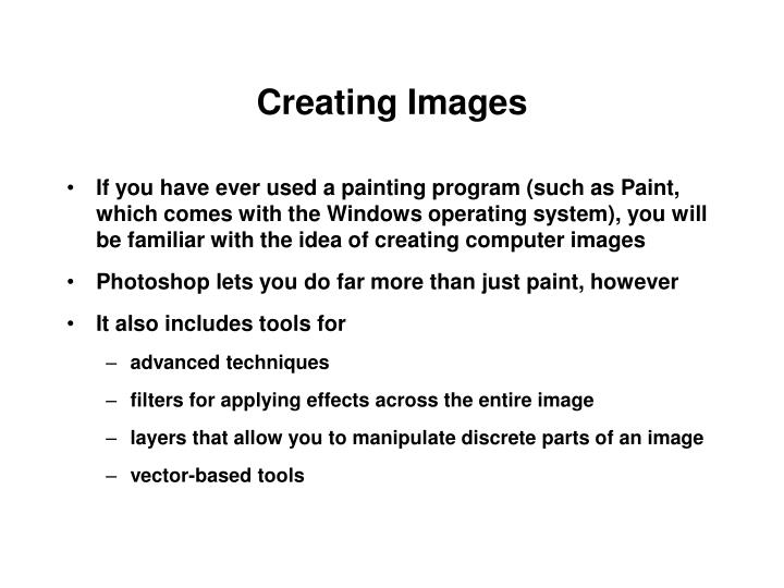 Creating images