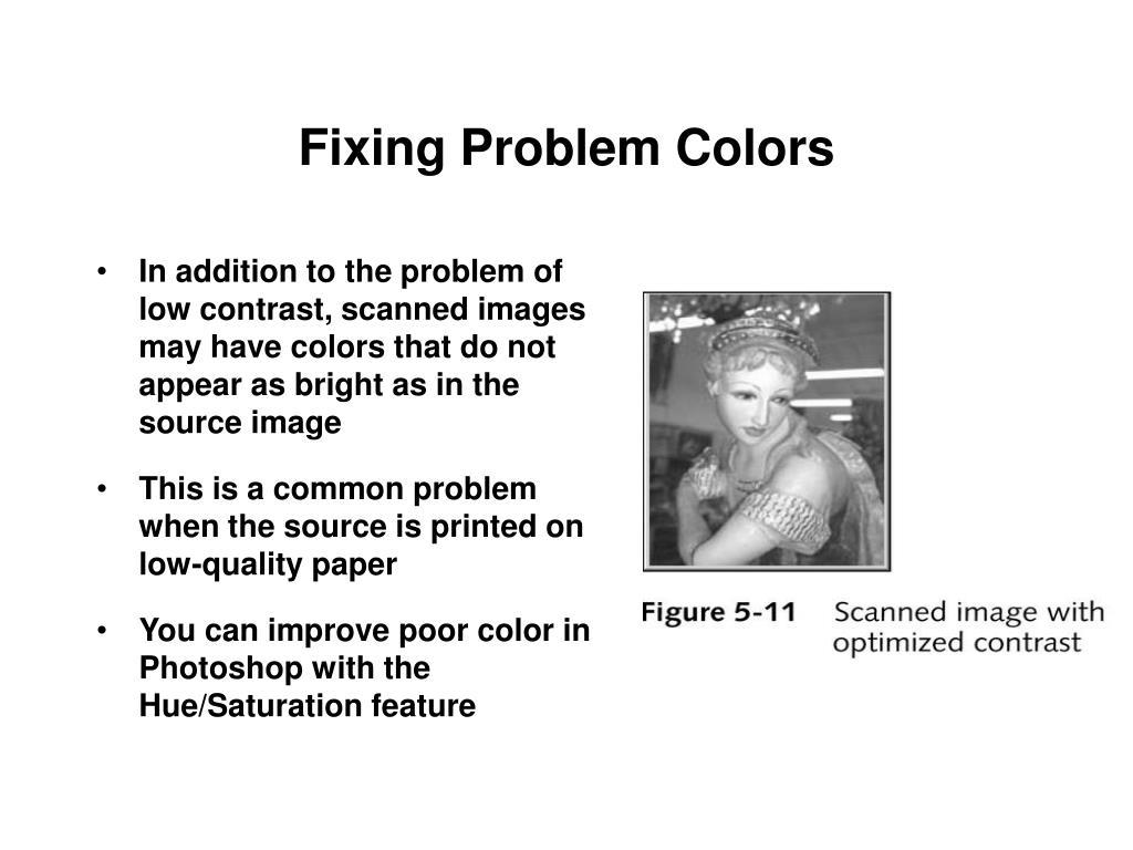 Fixing Problem Colors