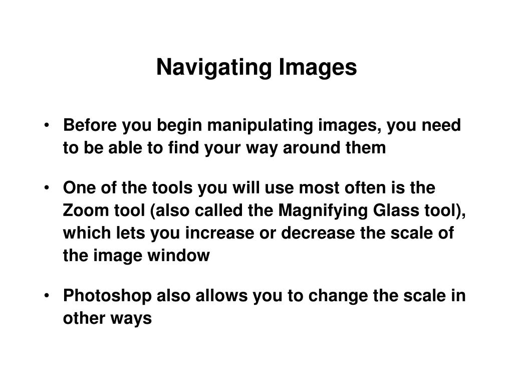 Navigating Images