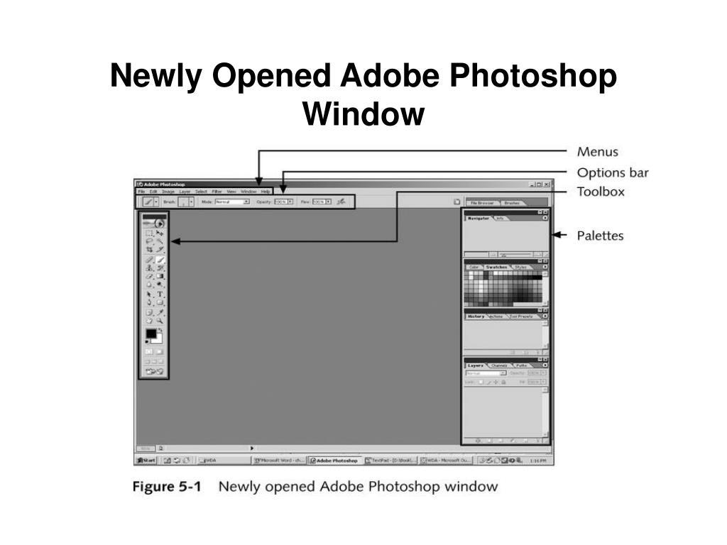 Newly Opened Adobe Photoshop Window