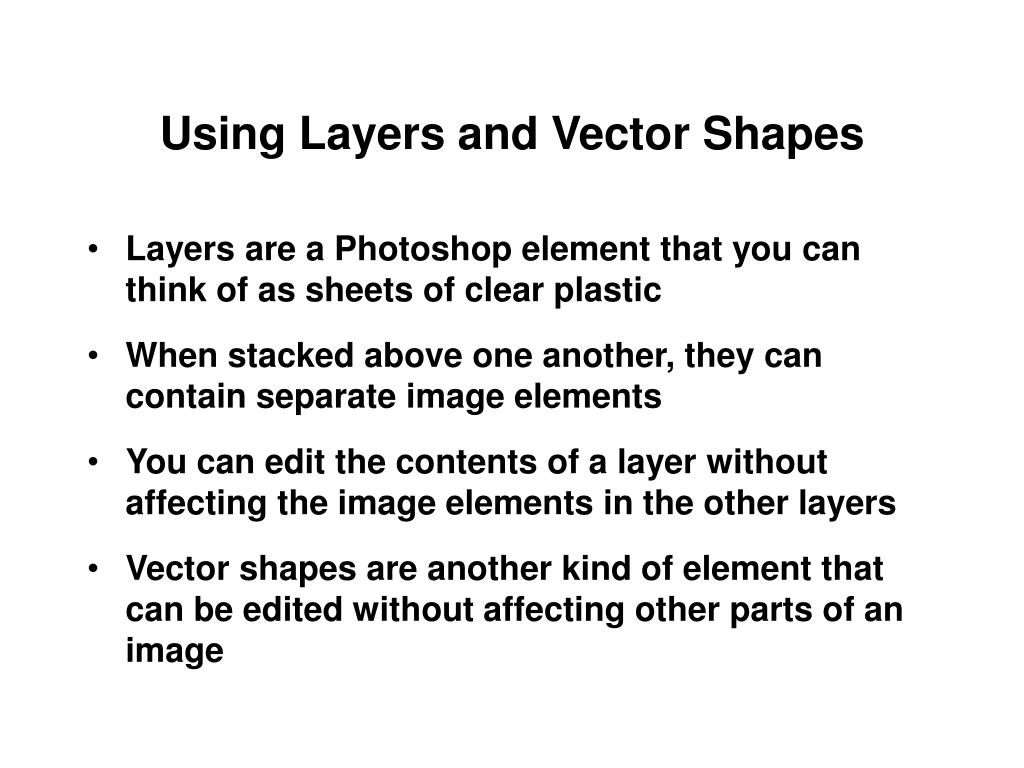 Using Layers and Vector Shapes