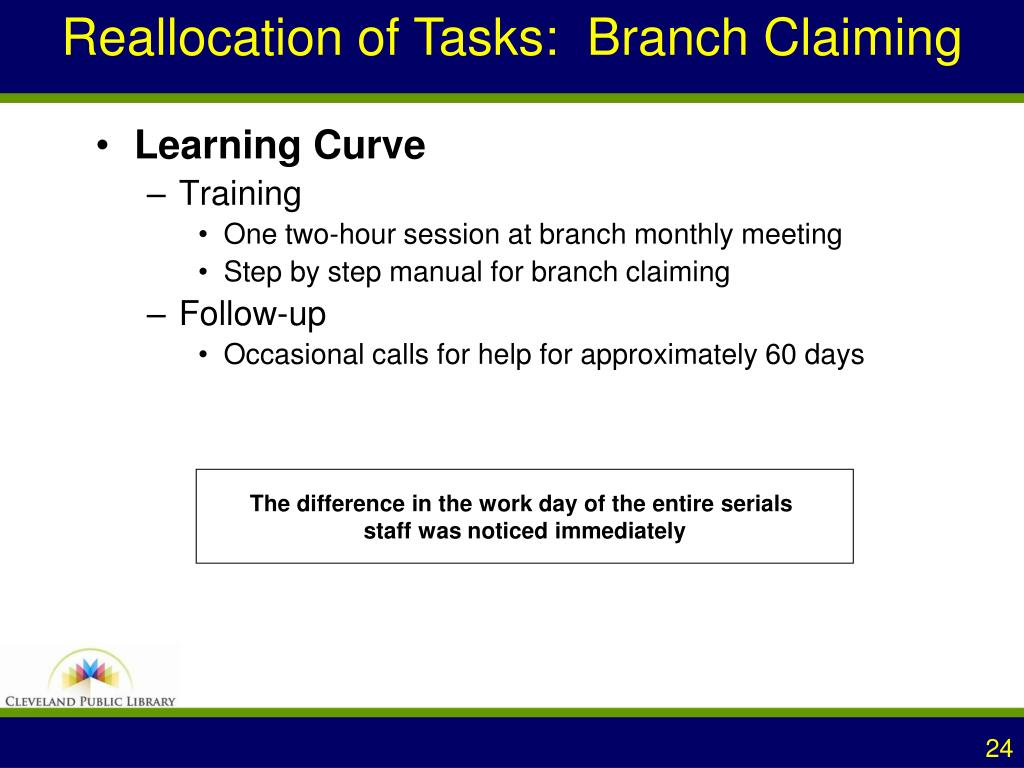 Reallocation of Tasks:  Branch Claiming