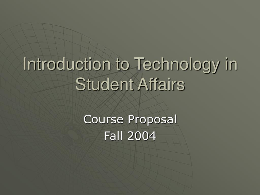 introduction to technology in student affairs l.