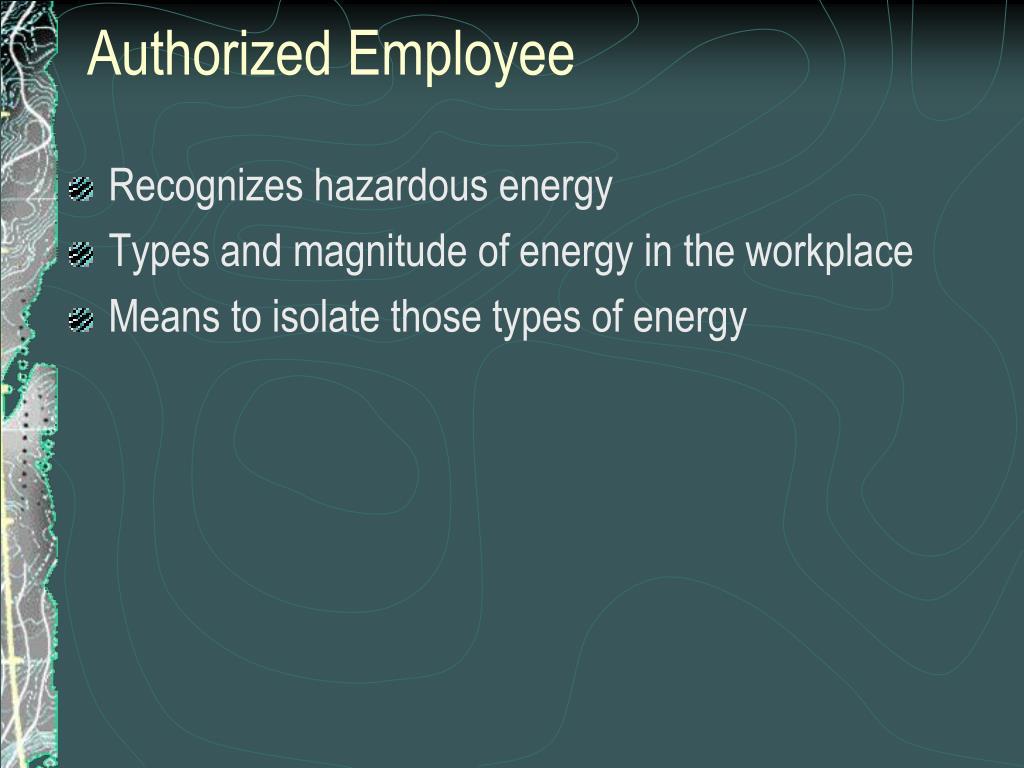 Authorized Employee