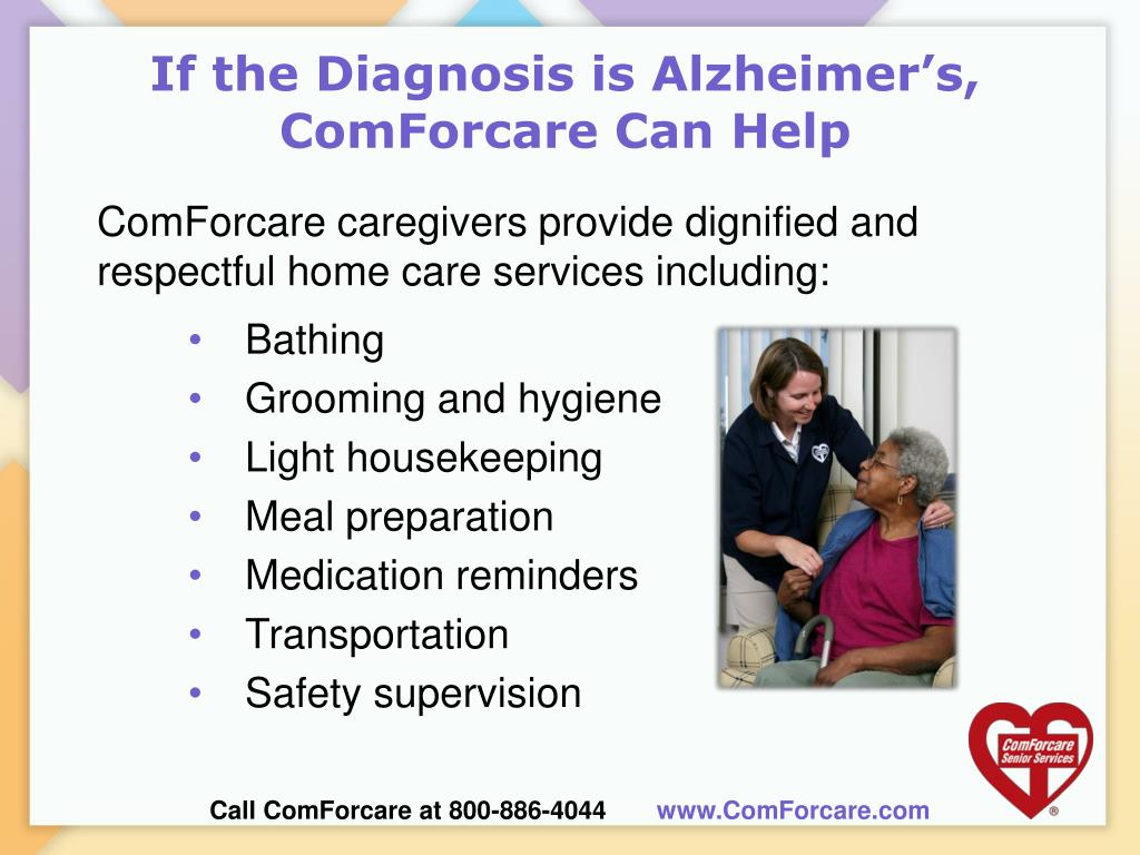 If the Diagnosis is Alzheimer's, ComForcare Can Help