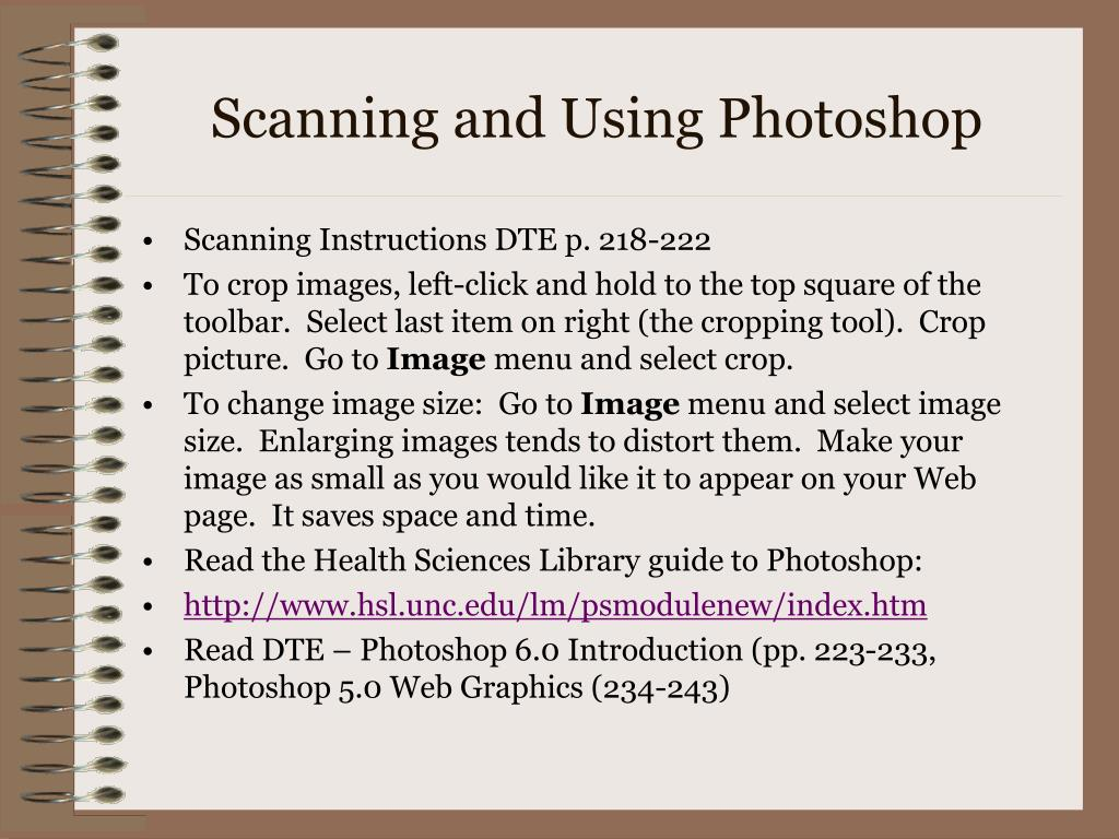 Scanning and Using Photoshop
