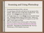 scanning and using photoshop