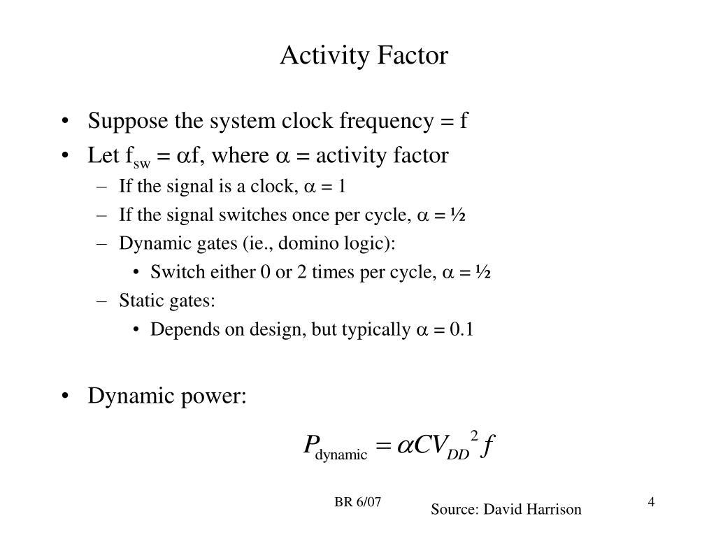 Activity Factor