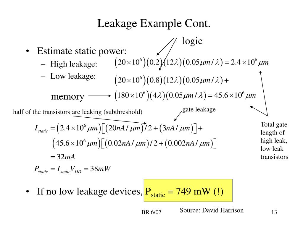 Leakage Example Cont.