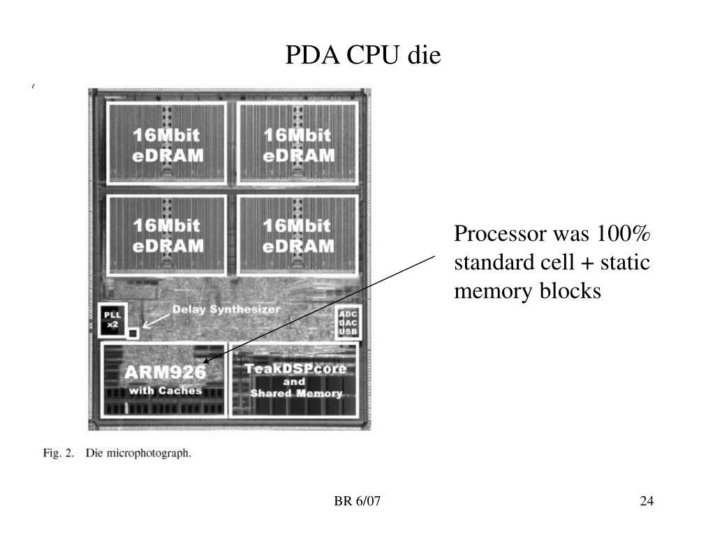 PDA CPU die