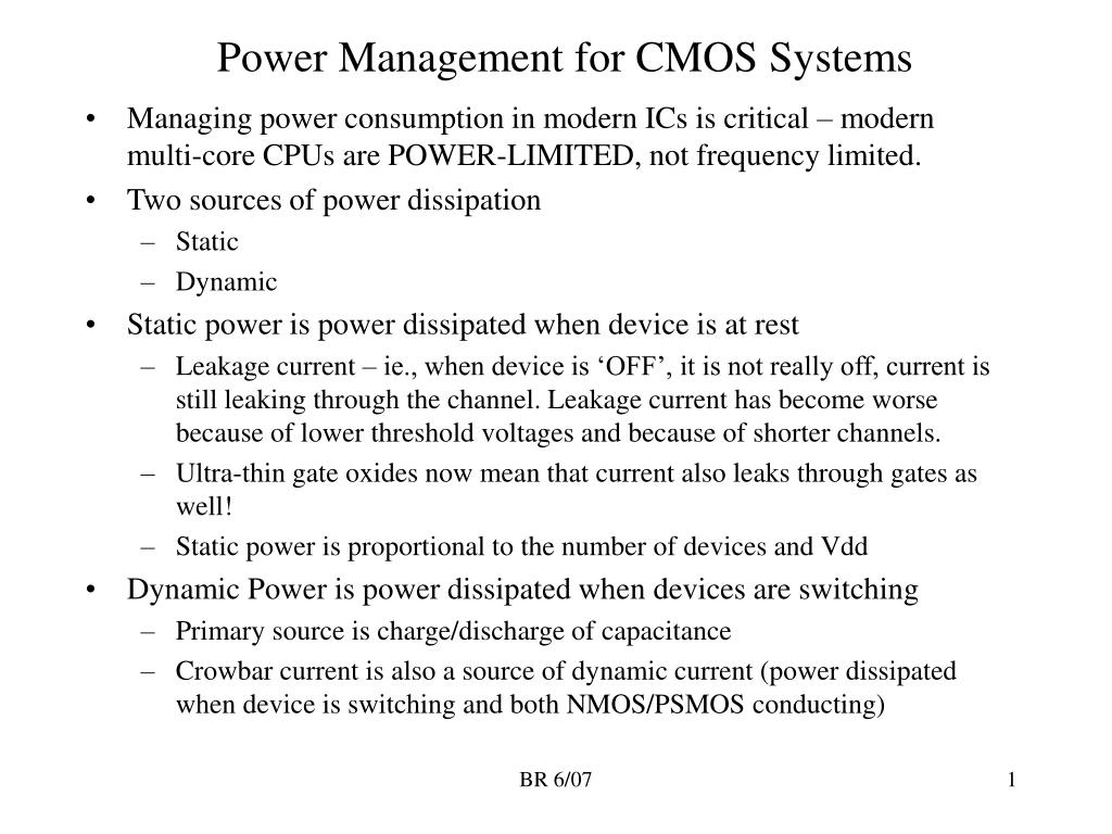 Power Management for CMOS Systems