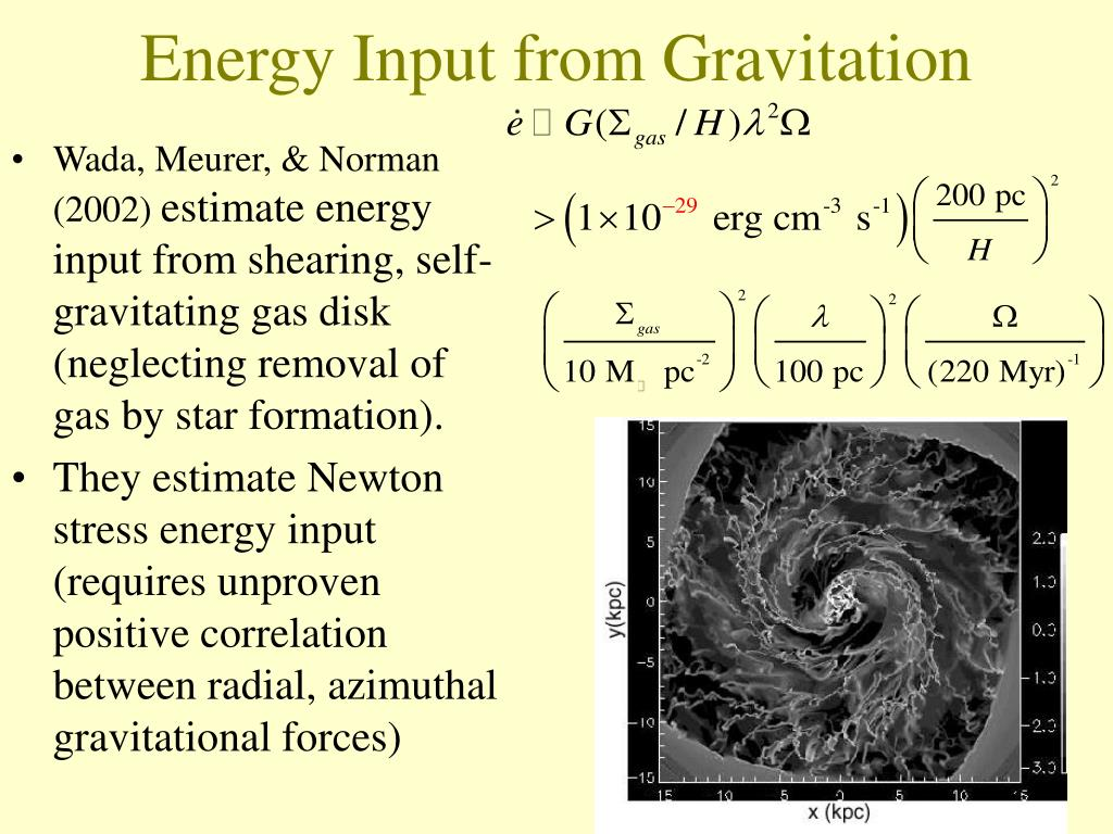 Energy Input from Gravitation