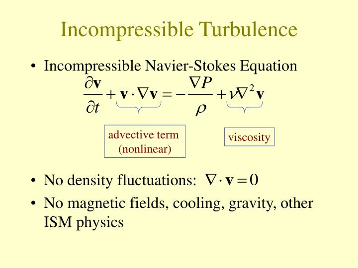 Incompressible turbulence