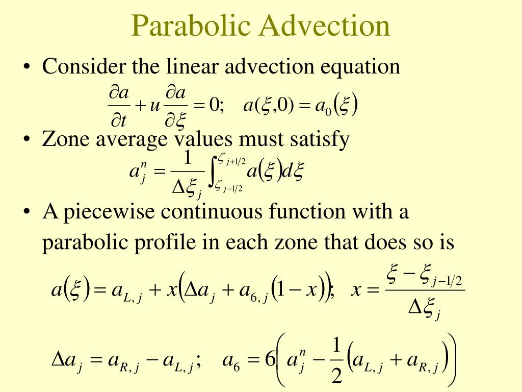 Parabolic Advection